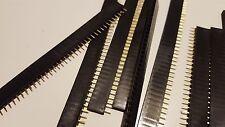 10 Pcs 254mm 40 Pin Stright Female Single Row Pin Header Strip Pcb Connector