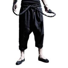 Summer Men Harem Hakama Linen Cotton Japanese Samurai Boho Casual Hot Pants X705