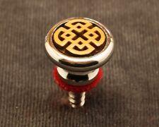 Strap Button, Silver, Big Head, with Celtic Square insert