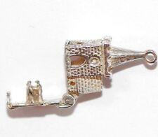 Vintage WEDDING / Opening Church Sterling Silver Bracelet Charm / Detailed 2.2g