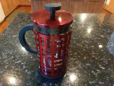 Bodum French Press Eileen Coffee Maker Red Art Deco Mid Century Modern Stainless