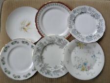 Job Lot, 6 x pretty vintage Dinner Plates, set G wedding tea party