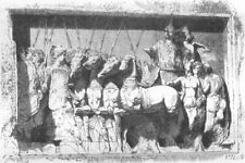 ROME. Bas-relief of the Arch of Titus 1872 old antique vintage print picture