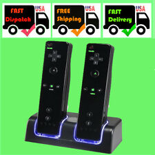 BLACK CHARGER DOCKING STATION & 2x RECHARGEABLE BATTERY PACK FOR WII REMOTE