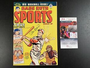 1950 Babe Ruth Sports Comics #9 Signed by Stan Musial JSA - Harvey Publication