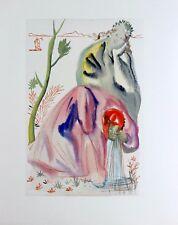 Salvador Dali Original Woodblock Engraving Purgatory 21 Divine Comedy 1960 COA
