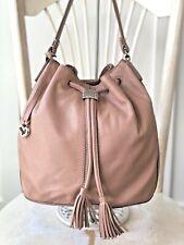 BRIGHTON Caliope Putty Leather Drawstring Bucket Shoulder Handbag Satchel Purse