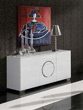 W-743 Dupen Design Kommode Sideboard Schrank Wohnzimmer Möbel Hochglanz Weiß