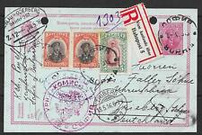 Bulgaria covers 1916 uprated R-PC VOM AUSLANDE über Bahnpost INTERESTING!