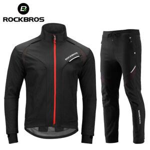 Cycling Clothing Set Winter Thermal Fleece Windproof Reflective Bike Jersey Set