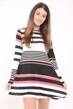 Knee Length Machine Washable Dresses Stripes