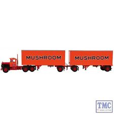 60-0286 First Gear 1:64 SCALE Mack R Model with 28' Pup Trailers 'Mushroom Trans