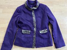 BODEN   purple WOOL JACKET size 8   NEW.  WE230