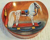Large Collectible Tin Box Lebkuchen Schmidt Germany Toy Horse Car Train Elephant