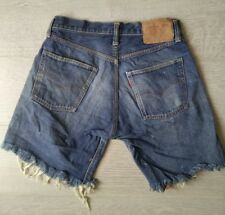 Levis *Big E 501* Authentic Jeans Shorts Vintage Rare High Waisted Hotpants 27w