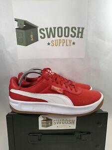 Puma California Casual Sneaker Ribbon Red/Puma White 366608 07 Size 10.5