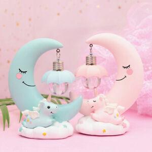 Unicorn Night Light Cartoon Moon Lamp Led Table Lamps Baby Kids Bedroom Lights