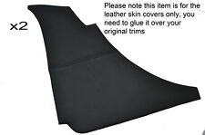 BLACK STITCH 2X REAR QUATER  DOOR CARD PANEL LEATHER SKIN COVERS FITS MG MGB GT