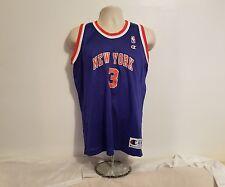 Vintage John Starks #3 Champion New York Knicks Blue Orange Jersey