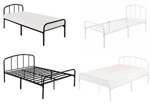 LPD | Industrial Black / White Metal Bed Frame Single Small Double Double King