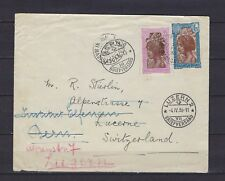 1936 Madagascar Scott 154 & 163 on cover Tananarive to Luzern to Bern, SUI