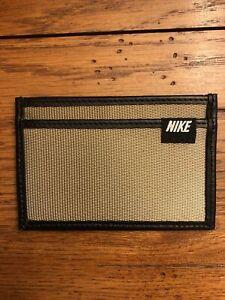 Nike Tan Nylon/leather Front Pocket Wallet