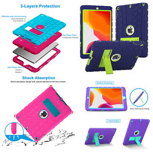 iPad 8th Generation Case 2020 7th 20219 10.2 Case Kids Silicone Shock Proof Case