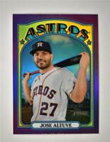 2021 Heritage Base Chrome Hot Box Purple #43 Jose Altuve - Houston Astros