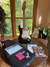 Fender Starcaster Electric Guitar Black Sparkle & Pearl Pick Guard Bag+Excellent