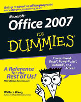 Very Good, Office 2007 For Dummies, Wang, Wallace, Book