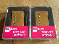 Seymour Duncan Pearly Gates Humbucker Pickup Set Gold Covers SHPG-1N SHPG-1B New