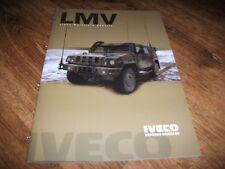 IVECO LMV Military Vehicle Brochure Prospekt Catalogue