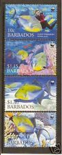 WWF WORLD WILDLIFE FUND BARBADOS 2006 TRIGGERFISH 4vMNH