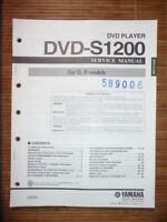 Service Manual Yamaha DVD-S1200 DVD-Player,ORIGINAL