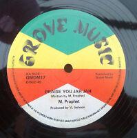 "M. PROPHET "" PRAISE YOU JAH JAH "" UNPLAYED EX STOCK UK ORIG GROVE 12"""