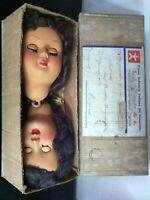Furga TESTE ( 20 cm ) di Ricambio per Bambola antica in Scatola forse anni '50