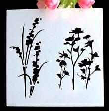AU Stock Flora Grass Layering Stencil Template DIY Scrapbooking Home Bar Decor
