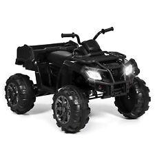 Kids 12V Ride On Xl Atv Quad 4 Wheel Suspension Mp3 Player, Storage Basket