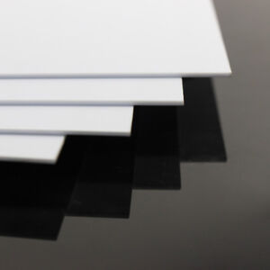 4pcs 1.5mm Thick 200mm x 250mm ABS Styrene Sheets White Model Architectual