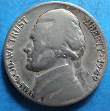 1949-D Jefferson Nickel  vg-f   free shipping