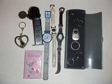 New listing Vintage Oris swiss Cat watch Swatch Pez Samsonite Key Ring Coin Junk Drawer Lot