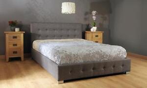 Fabric Ottoman Storage Gaslift Bedframe 3ft Single 4ft6 Double 5ft King Size