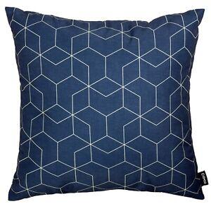 Modern Geometric Cushion Navy Blue Sofa Top Throw Pillow Case Cover 45cm 18in