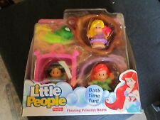 Fisher Price Little People Disney Princess NEW Floating Boats Bath Ariel Jasmine