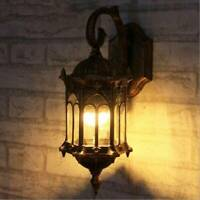 Vintage Outdoor Wall Lantern Metal Garden Lights Waterproof Lamp Holder NEW