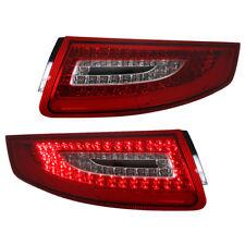 Depo LED Rückleuchten Set Klarglas für Porsche 911/997 Bj. 04-08 Rot/Chrom