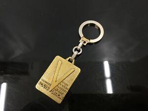 """Auth Louis Vuitton Gold Tone Malletier Key Holder Bag charm 1D280300n"""""""