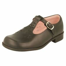 Chaussures habillées larges en cuir pour fille de 2 à 16 ans