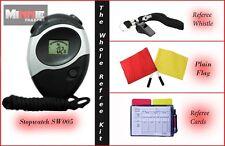 Brand NEW Plain FLAG impostato con cordino, FISCHIO, Arbitro CARD & cronometro (sw005)