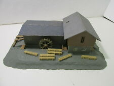 Vintage Water Powered Log & Saw Mill Train Building HO Gauge Scale  tr1615